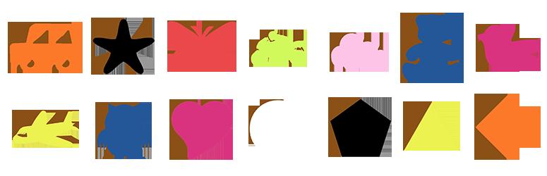 pomos de colores