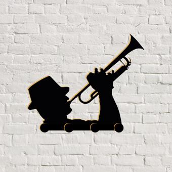 perchero original trompetista